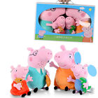 4PCS/Set Peppa Pig George Father & Mother Plush Soft Toys Stuffed Dolls For Kid