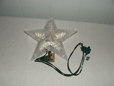 Yule Rite Lighed Tree Top Star Plastic Steady Burning Electric Ec