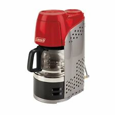Portable Camping Coffee Maker QuikPot Propane Machine 10 Cup Outdoor Hiking Red