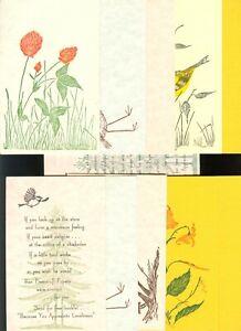 pc10015 postcard Gwen Frostic block-prints TWELVE MOBSC