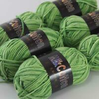 AIP Soft Baby Cotton Yarn New Hand dyed Wool Socks Scarf Knitting 6Skeinsx50g 05