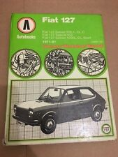 AUTOBOOKS FIAT 127 903cc 1049cc L, C, CL SPORT WORKSHOP MANUAL 1971-1981