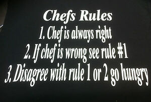 Funny Chef T Shirt for Men or Women S-5XL