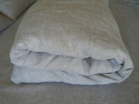 Linen Duvet Cover Oatmeal Beige Color 100% Pure Natural European Light Gray