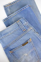 NUDIE JEANS SLIM JIM MIDSUMMER BLUE Men's W30/L32 Straight Fit Jeans 10982-