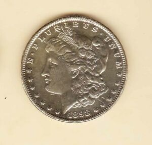 United State One Dollar Morgan 1898 SILVER DOLLAR nice  condition