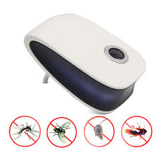 Portable Ultrasonic Electronic Insect Mosquito Pest Flea Repeller Repellent EU