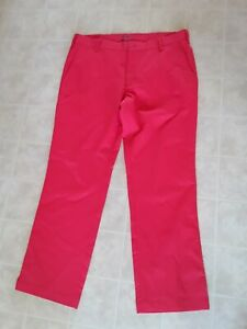 Nike Golf Dri-Fit Polyester Flat Front Red Men's Golf Pants Size 36 x 30
