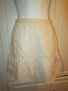 Women Victoria's Secret Moda International Natural Raw Hem Linen Mini Skirt 2