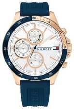 Tommy Hilfiger Banco   Correa De Silicona Azul   1791778 Relojes