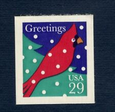 2874 Cardinal In Snow Single Mint/nh (Free Shipping)