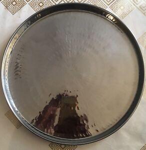 """Pooja Aarti  Hindu Brass / Peetal Plate (Thaal) 12"""" (Free post in UK)"""