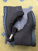 Gucci Mens Shoes Brown Leather Military Ankle Boots UK 10 US 11 EU 44 Web 353425
