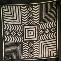 Vintage 1970's Abstract Geometric Vera Neumann Scarf (22 x 22)