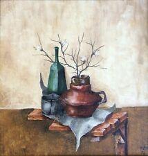 SAMMY ZILKHA , Oil on Board, Surreal Still Life in The Landscape, signed, 1974