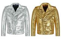 Ladies Real Leather Jacket Navy Vintage Napa Casual Fashion Biker Style 2640