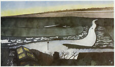 River Rother- Early Morning, Edward Burra ready mounted print in 10 x 12 mount