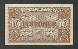 Denmark - 10 Kroner, 1944