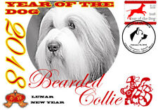 BEARDED COLLIE 2018 YEAR OF THE DOG STAMP SOUVENIR COVER #2