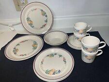 Corelle Abundance Dinner Plates Salad Plates Soup Bowls Cups Saucers 17 Pieces