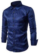 Mens Formal Shirt Men Paisley Print Designer Casual Luxury Shirts Regular Fit