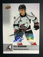 2019-20 Upper Deck CHL Alex Beaucage Auto