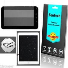 "3X ZenTech Silver Glitter Screen Protector Guard Shield Film - 7"" Tablet MID PAD"