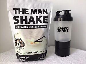 The Man Shake 840g Meal Replace Vanilla WeightLoss Shake + Shaker Free Express