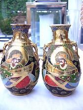 Deux mini SATSUMA Japonais vases