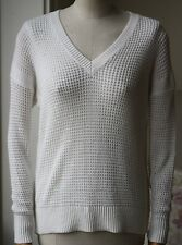 360 Cashmere Bianco V-NECK SWEATER XS