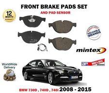para BMW 730d 740d 740i 2008-2015 NUEVO JUEGO DE PASTILLAS DISCO FRENO DELANTERO