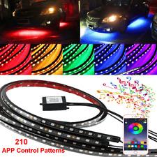 """36""""+24"""" 210 Models 5050 Multi-Colors LED Tubes Under Car Underglow Light DC 12V"""