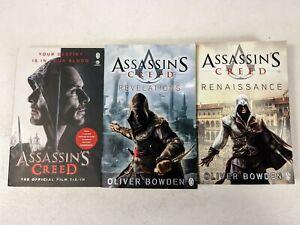 3x Assassins Creed Novel Books. Movie Tie In, Revelations & Renaissance