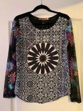 Desigual Beautiful Colored Chiffon Sweater Size M (Corresponds to US Size S)