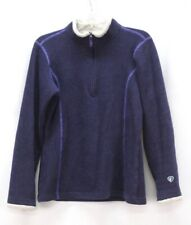 womens purple KUHL alfpaca fleece pullover jacket sweater 1/4 zip soft SMALL