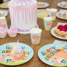 120tlg. Set Party Geschirr Einweg Kinder Geburtstag Dekoration Kindergeburtstag