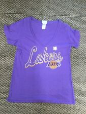 NWOT Los Angeles Lakers Basketball Purple Junk Food T-Shirt Women's Large New