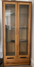 Wooden Living Room Light Up Display Cabinet Cupboard With Drawer