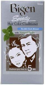Bigen Speedy Cheveux Couleur Après-shampoing Marron Foncé, 883 À Naturel Herbes,