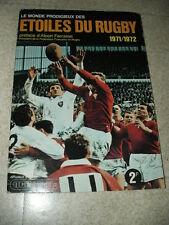 Vintage RAR card Album Vignette les etoiles du Rugby 1971 1972  panini / AGE