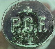 1920s Latvia Latvian LIGHT GREEN Mold Blown BUOY FLOAT marked PCF & Two Crosses
