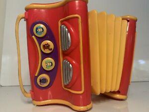 """Vintage """"The Wiggles"""" Musical Singing Play Along Pretend Toy Accordion Accordian"""