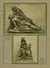 Document ancien vierge de Pitié et Notre-Dame de Grâce 1937 issue de magazine