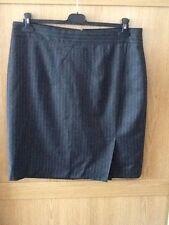Ladies L K Bennett BN Gianna skirt size 18 in Grey with White Pinstripes