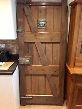 More details for reclaimed victorian front door (dungeon door) genuine antique 150 years old.