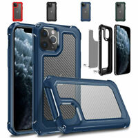 For iPhone 11 Pro Max Durable Rubber PC Case Drop Protection Armor Cover