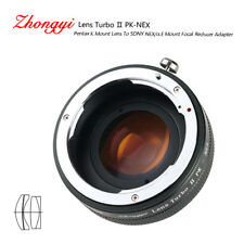 Lens Turbo II adapter for Pentax K mount lens to Sony mount NEX VG10 α6000 a6500
