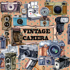 Vintgae Retro Camera Stickers,Vintage Stationery,Scrapbooking Planner Stickers