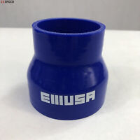 """Brand NEW 2.25"""" to 3"""" Blue Straight Silicone hose Coupler 4 layer polyester"""