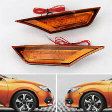 JDM Version Yellow Lens Pair Full LED Side Marker Light For Honda Civic 2016-18